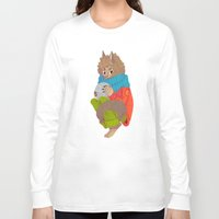 werewolf Long Sleeve T-shirts featuring Werewolf by Chicherova Olga