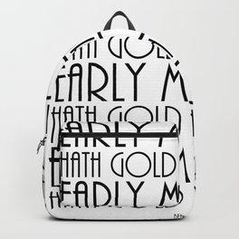 benjamin franklin quote, typography art Backpack