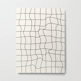 Warp Grid: Off-White Day Edition Metal Print