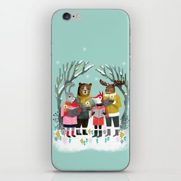 Woodland Christmas Carols by Andrea Lauren  iPhone Skin