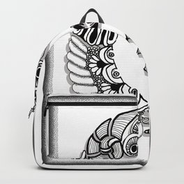 Zentangle G Monogram Alphabet Initials Backpack
