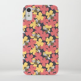 Bees on More Flowers iPhone Case
