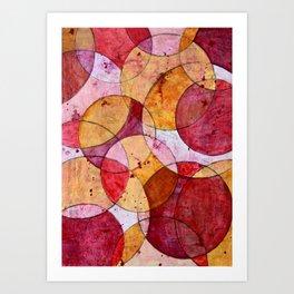 Moving Circles No.2 Art Print