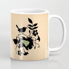 South Carolina - State Papercut Print Coffee Mug