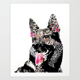 Axel the German Shepherd Art Print