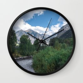 River & Mountains Wall Clock