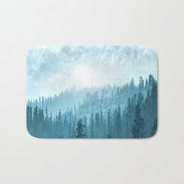 Here Comes The Sun - Misty Forest - Turquoise Bath Mat