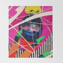 Cosmic Girl Throw Blanket