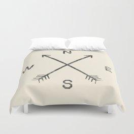 Compass (Natural) Duvet Cover