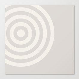 70's Retro Circles Cream - 2 of Series 70's Retro Canvas Print