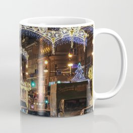 Light decorations on Nevsky Prospect. Coffee Mug