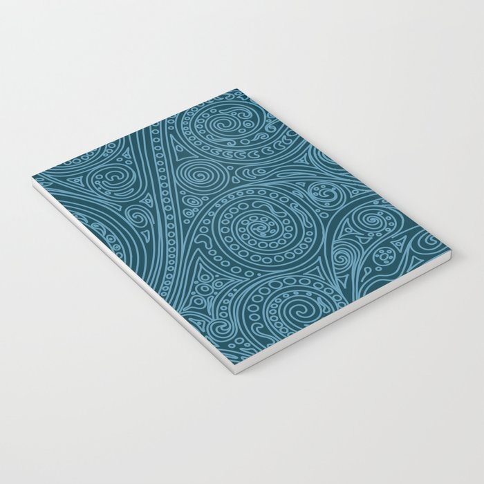 Doodle spiral sea green Notebook