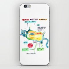 Cat Flow Chart iPhone & iPod Skin