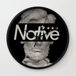 DC Native Wall Clock