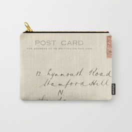 Retro post card  with address and stamp Carry-All Pouch