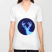 dear V-neck T-shirts featuring DEar  by Nancy Woland