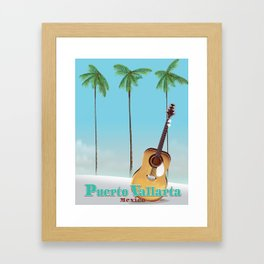 Puerto Vallarta Mexico travel poster art. Framed Art Print