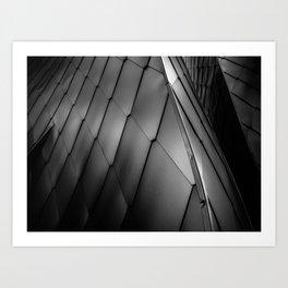 Monochrome texture Art Print
