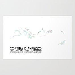 Cortina D'Ampezzo, ITA - NA (Unlabeled) - Minimalist Trail Art Art Print