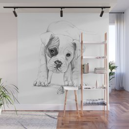 Patch, A Boxer Puppy :: Shelter Dog Project Wall Mural