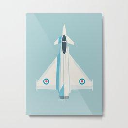 Eurofighter Typhoon RAF Jet Fighter Aircraft - Sky Metal Print