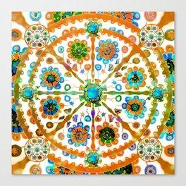 Mandala Flower Canvas Print