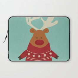 Rudolph Red Nosed Reindeer in Ugly Christmas Sweaters Laptop Sleeve