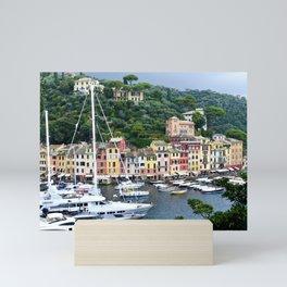 Portofino Harbour Italy Mini Art Print