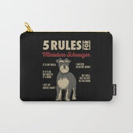 Funny Rules for Miniature Schnauzer Carry-All Pouch