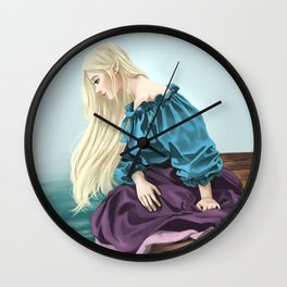 Elf Sitting on a Pier Wall Clock