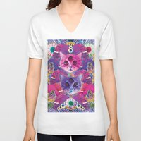 holographic V-neck T-shirts featuring 3rd eye tacocat by STORMYMADE