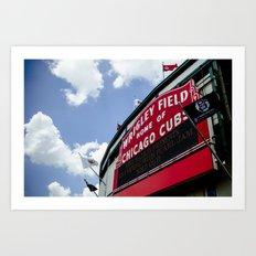 Wrigley Field Sign - Pearl Jam Chicago 2013 Art Print