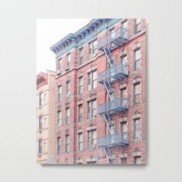 Greenwich Village Balconies - New York Architecture Photography Metal Print