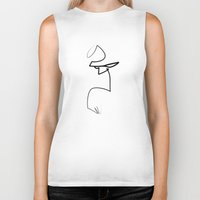 quibe Biker Tanks featuring oneline Hell-boy by quibe