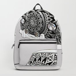 """Bus Life"" B&W Mandala Illustration Backpack"