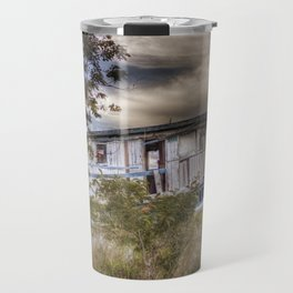 Shipwrecked at sunset Travel Mug