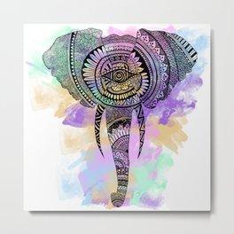 Elephant zentangle Metal Print