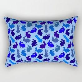 Bunnies Galore Blue on Blue Rectangular Pillow