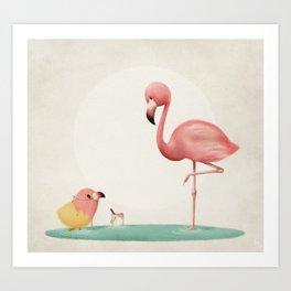 Little Flamingo Art Print