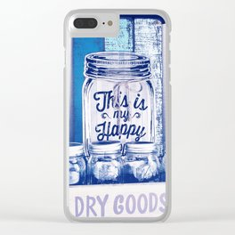 This Is My Happy Place Vintage Sign Clear iPhone Case