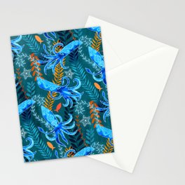 Sparkling Firefly Squid  Stationery Cards