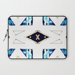 X Triangle Textile Pattern Laptop Sleeve