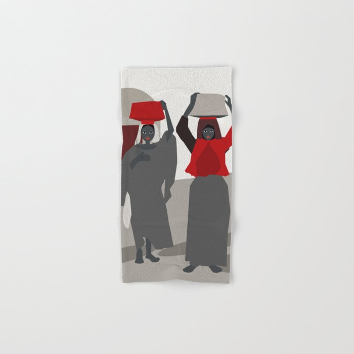 Women return from the market  Hand & Bath Towel