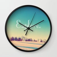 explore Wall Clocks featuring Explore by Josrick