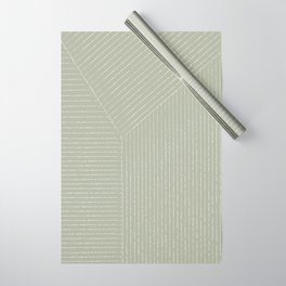 Lines (Linen Sage) Wrapping Paper