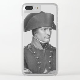 Napoleon Bonaparte In Uniform Clear iPhone Case