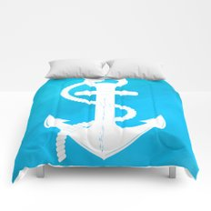 White Anchor Comforters
