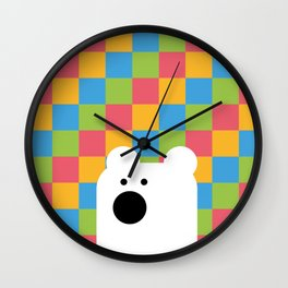 Zedl Ico Bear Wall Clock