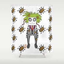 Beetle Juice Tribute Shower Curtain