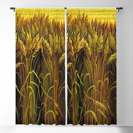 Classical Masterpiece 'Wheat' by Thomas Hart Benton Blackout Curtain